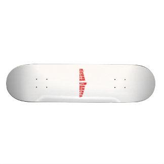 Red American Flag North Dakota Skateboard Deck