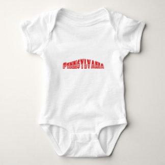 Red American Flag Pennsylvania Baby Bodysuit
