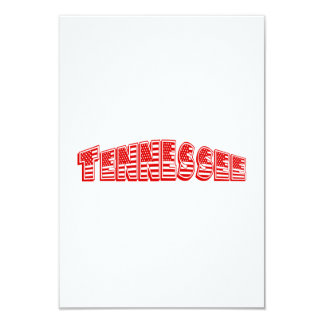 Red American Flag Tennessee Personalized Announcement