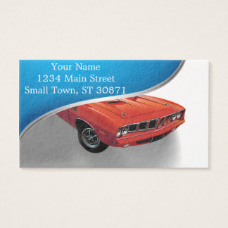 Red American muscle car Business Card