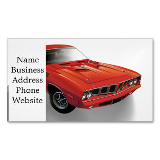Red American muscle car Business Card Magnet