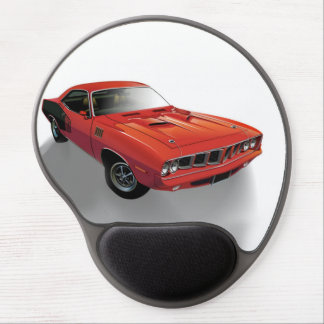 Red American muscle car Gel Mouse Pad