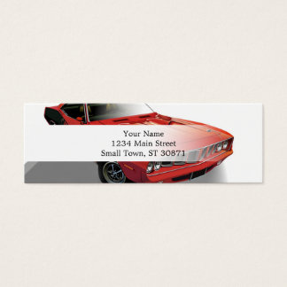 Red American muscle car Mini Business Card