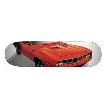 Red American muscle car Skateboard