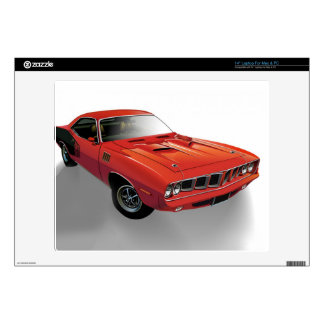 "Red American muscle car Skin For 14"" Laptop"