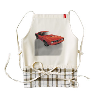 Red American muscle car Zazzle HEART Apron