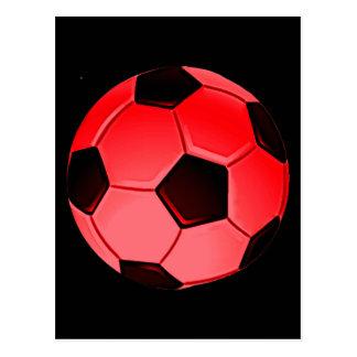 Red American Soccer or Association Football Ball Postcard