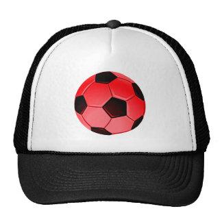 Red American Soccer or Association Football Ball Trucker Hat