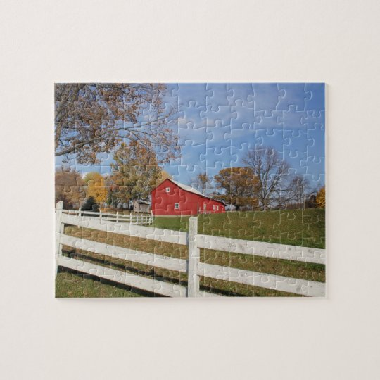 Red Amish Barn Puzzle