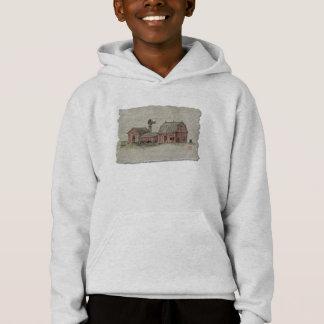 Red Amish Barn & Windmill Hoodie