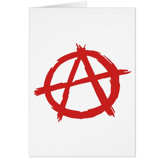 Red Anarchist A Symbol Anarchy Logo Card