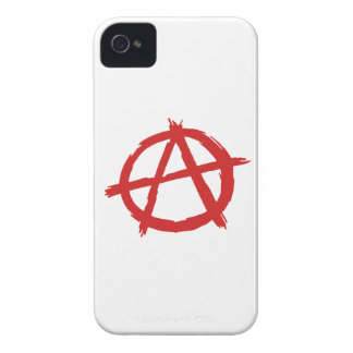 Red Anarchist A Symbol Anarchy Logo iPhone 4 Cover