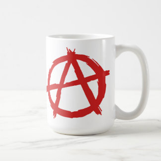 Red Anarchist A Symbol Anarchy Logo Coffee Mug