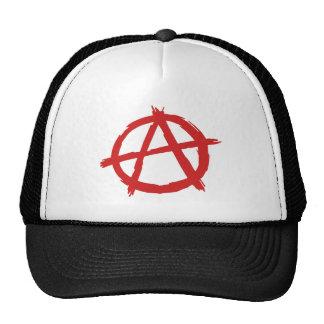 Red Anarchist A Symbol Anarchy Logo Trucker Hat