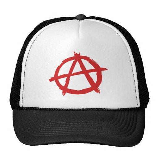 Red Anarchist A Symbol Anarchy Logo Mesh Hats