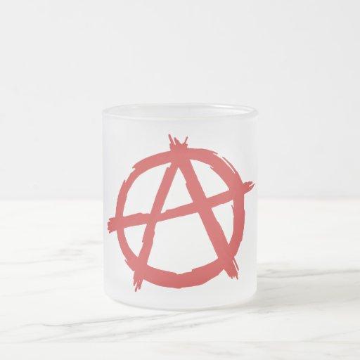 Red Anarchist A Symbol Anarchy Logo 10 Oz Frosted Glass Coffee Mug