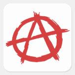 Red Anarchist A Symbol Anarchy Logo Stickers