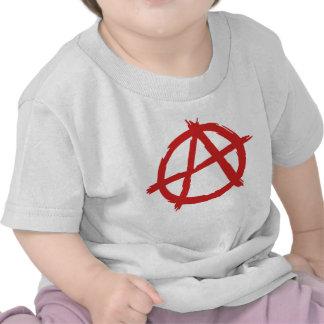 Red Anarchist A Symbol Anarchy Logo Tshirt
