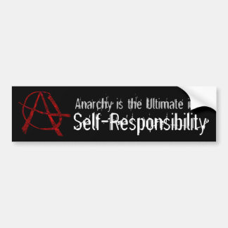 Red Anarchy Bumper Sticker