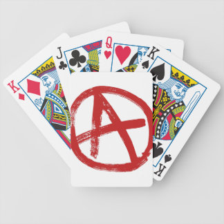 Red Anarchy Icon Bicycle Playing Cards