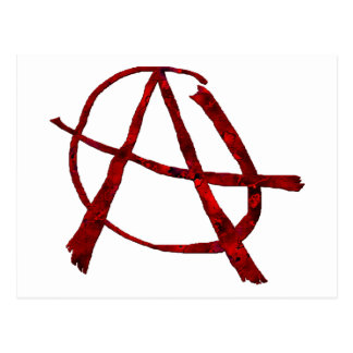 Red Anarchy Postcard