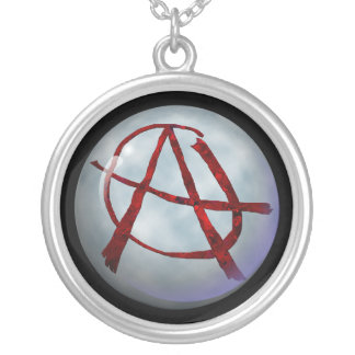 Red Anarchy Silver Plated Necklace