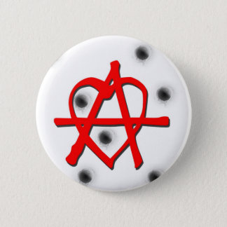 Red Anarchy Symbol Button