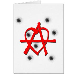 Red Anarchy Symbol Card