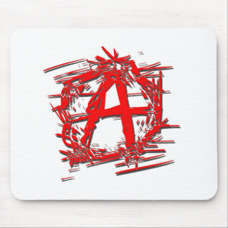 Red Anarchy Symbol Mouse Pad