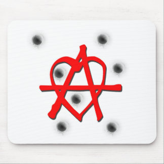 Red Anarchy Symbol Mousepad