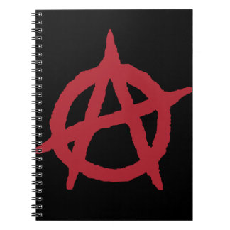 Red Anarchy Symbol Notebook
