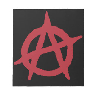 Red Anarchy Symbol Notepad