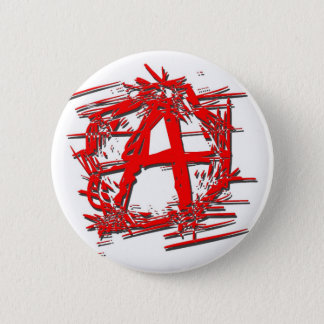 Red Anarchy Symbol Pinback Button