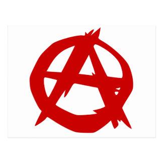 Red Anarchy symbol Postcards