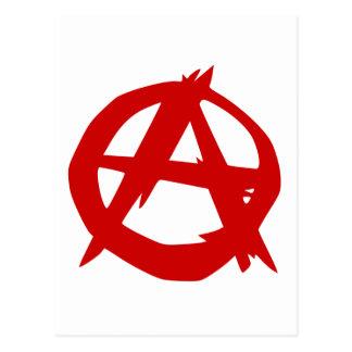 Red Anarchy symbol Postcard