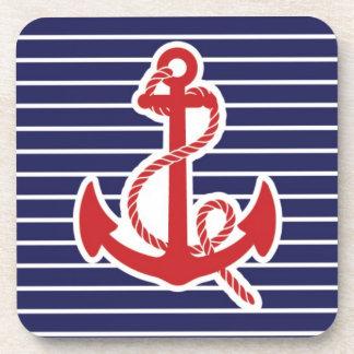 Red anchor coaster