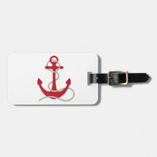 Red Anchor Luggage Tag