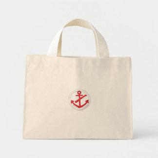 Red Anchor Nautical Purse Mini Tote Bag