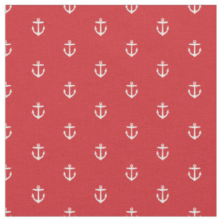 Red Anchor Print Fabric