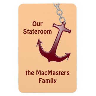 Red Anchor Stateroom Door Marker Rectangular Photo Magnet