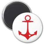 Red Anchor with heart Refrigerator Magnet