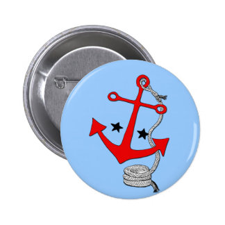 Red Anchors (for  ) Pinback Buttons
