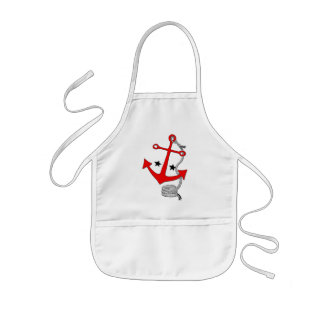 Red Anchors (for  ) Kids' Apron