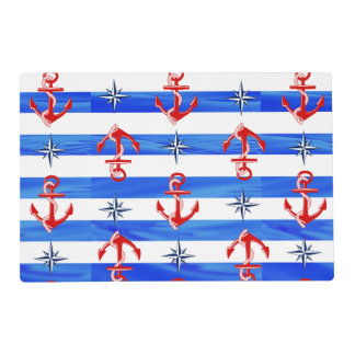 Red Anchors Placemat