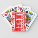 Red ancient architecture bicycle playing cards