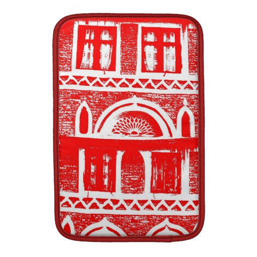 Red ancient architecture MacBook sleeves