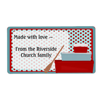 Red and Aqua Kitchen Label Shipping Label