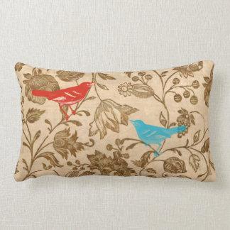 Modern Vintage Pillows : Vintage Modern Birds Pillows - Decorative & Throw Pillows Zazzle