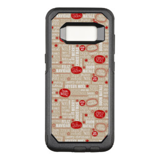 Red and Beige Christmas Sayings Languages OtterBox Commuter Samsung Galaxy S8 Case