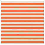 [ Thumbnail: Red and Beige Colored Striped/Lined Pattern Fabric ]